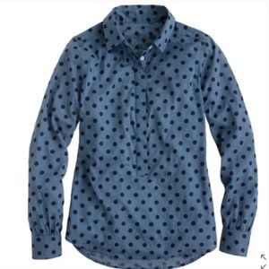 J. Crew Factory Tops - J. Crew Factory Jacquard Dot Popover Shirt